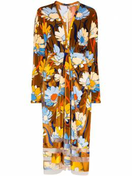 Fendi платье миди с цветочным принтом FDA801A5YZ