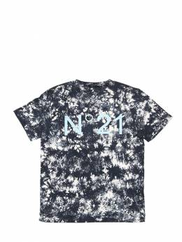 Tie Dyed Cotton Jersey T-shirt No. 21 71ILWY008-ME45MDA1