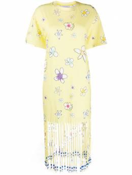 Mira Mikati платье-футболка с цветочным принтом TEE019SS20