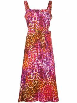 Natori платье с леопардовым принтом и завязками K83042