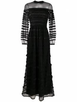 Temperley London платье с кружевными вставками и бисером 20UPOM53493
