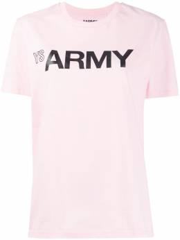 Army Yves Salomon футболка с круглым вырезом и логотипом 20EFH03569H20W