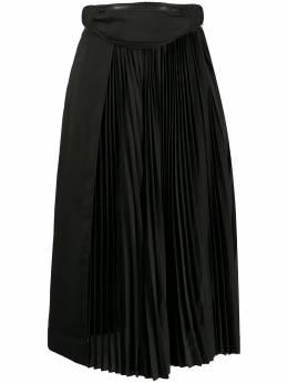 Juun.J плиссированная юбка с поясной сумкой JA0427W005