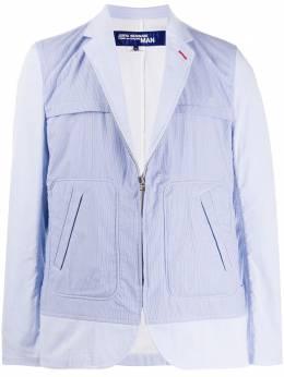 Junya Watanabe Man пиджак на молнии в тонкую полоску WEJ025S20