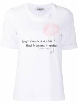 Peserico футболка с цветочным принтом M06607J0Q400070
