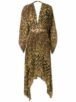 Adriana Degreas платье миди с леопардовым принтом VTMI0129V20