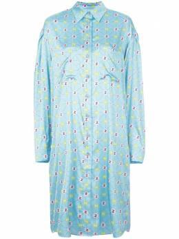 Natasha Zinko платье-рубашка с монограммой R2010730
