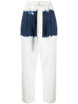 8Pm джинсы с поясом и принтом тай-дай D8PM01W64