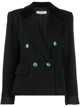 Yves Saint Laurent Pre-Owned двубортный пиджак свободного кроя Z100286