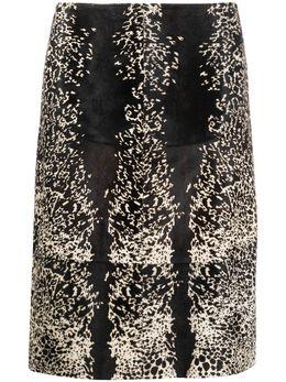 Alaïa Pre-Owned юбка А-силуэта с анималистичным принтом C30150394
