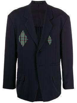 Yohji Yamamoto Pre-Owned пиджак прямого кроя с аппликациями U96193