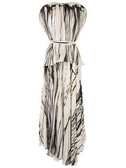 Proenza Schouler плиссированное платье в полоску с запахом R2013033BYP140