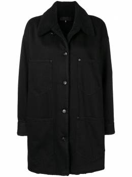 Mm6 Maison Margiela shearling collar denim coat S52AM0078S30531
