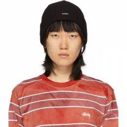 Stussy Black Patch Cuff Beanie 132965