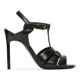 Saint Laurent Black Tribute 105 Heeled Sandals 620673 DWE00