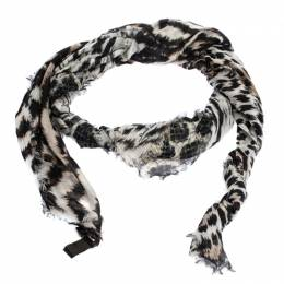 Roberto Cavalli Multicolor Animal Print Cashmere Blend Square Scarf 282358