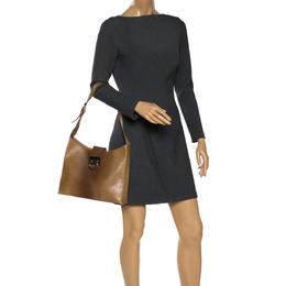 Salvatore Ferragamo Brown Ombre Leather Shoulder Bag 285958