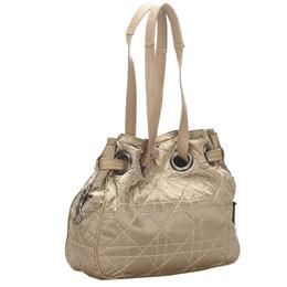 Dior Brown/Beige Cannage Nylon Shoulder Bag 285341