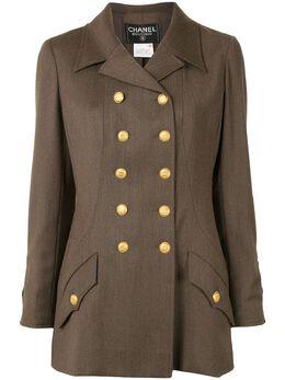 Chanel Pre-Owned двубортный пиджак узкого кроя 1996-го года 96AP08308V02560AB133