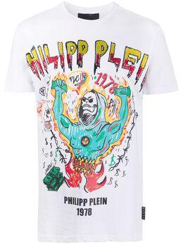 Philipp Plein футболка SS Graffiti P20CMTK4431PJY002N