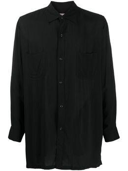 Yohji Yamamoto рубашка оверсайз с длинными рукавами HNB11201