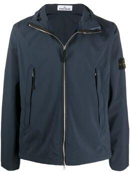 Stone Island куртка с воротником-воронкой и логотипом 721540827