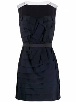 Lanvin Pre-Owned платье мини 2008-го года со складками LANV600C