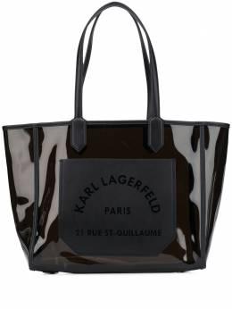 Karl Lagerfeld маленькая прозрачная сумка-тоут K/Journey 205W3061999