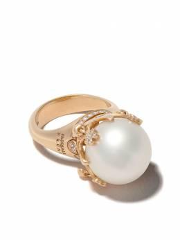 Pasquale Bruni золотое кольцо Sissi с бриллиантами и жемчугом 15175R