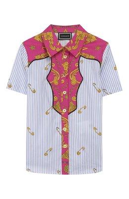 Хлопковая блузка Versace YC000203/A233568/4A-6A