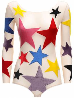 Star Patches Tulle Bodysuit Alexia Hentsch 71IXKM002-RkxVTw2