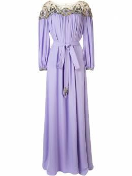 Marchesa декорированное длинное платье M29702