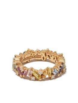 Suzanne Kalan золотое кольцо Pastel Rainbow Fireworks Frenzy BAR518RG65