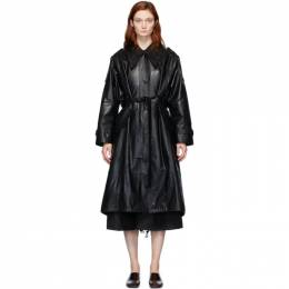 Low Classic Black Faux-Leather Trench Coat LOW20SS_CT01BK