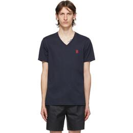Burberry Navy Marlet V-Neck T-Shirt 8017256
