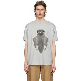 Burberry Grey Double Swan T-Shirt 8029886