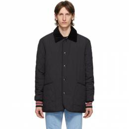 Burberry Black Quilted Barn Varsity Coat 8023184