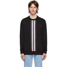 Burberry Black Monogram Stripe Trevon Sweatshirt 8026939