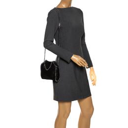 Stella McCartney Black Faux Leather Tiny Falabella Crossbody Bag 285842
