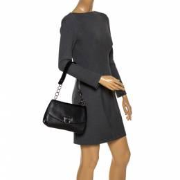 Salvatore Ferragamo Black Leather Flap Shoulder Bag 285871