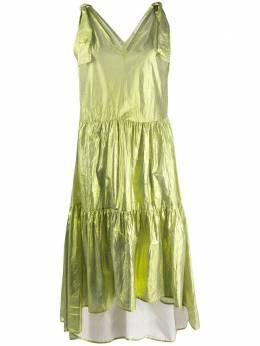 8Pm расклешенное платье с эффектом металлик D8PM01A58