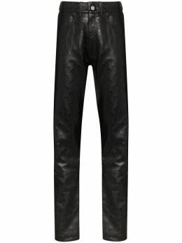 Marine Serre брюки с принтом Moon PU008SS20MLT