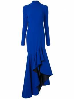 Solace London платье макси с оборками OS25063