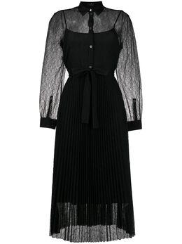 Ps by Paul Smith плиссированное платье с кружевом W2R303DA30568