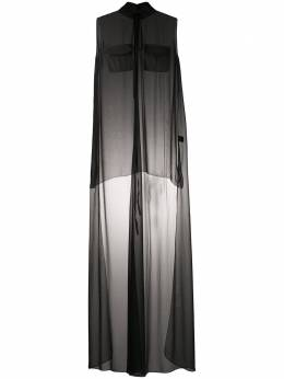 Vera Wang прозрачное платье-рубашка R220D06