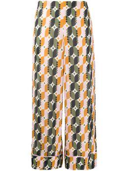 Altea укороченные брюки с геометричным принтом 2053541