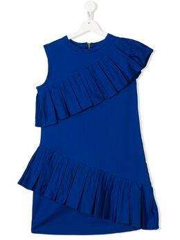 Balmain Kids платье с оборками 6M1122ME010
