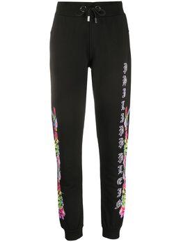 Philipp Plein спортивные брюки с цветочным принтом P20CWJT1221PJO002N