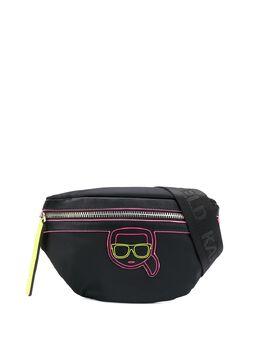 Karl Lagerfeld поясная сумка K/Ikonik с неоновой вставкой 205W3011999