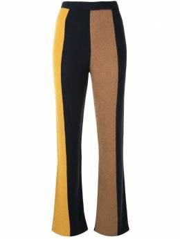 The Elder Statesman кашемировые брюки в полоску 200003